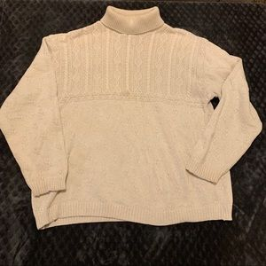 Northern Expressions Cream Turtle Neck Sweater